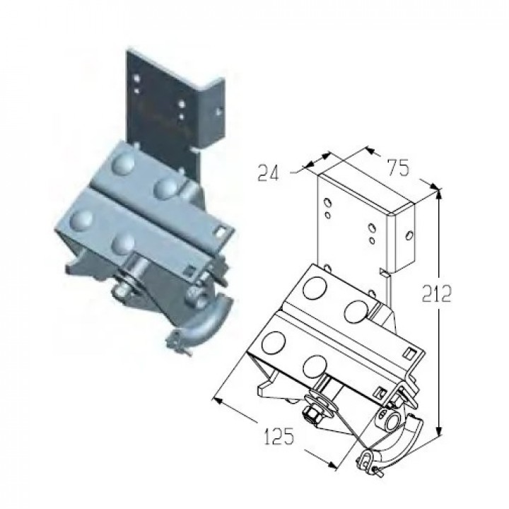 Кронштейн нижний для гаражных ворот Alutech RBI446