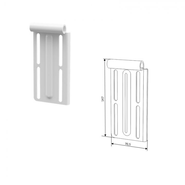 Верхние кронштейны для роликов N25008 секционных ворот DoorHan 25043M