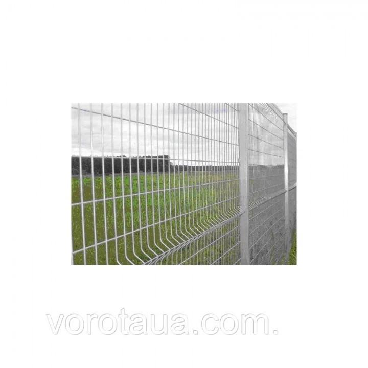 Заборная секция 1260х2500мм из сварной сетки оцинкованная Стандарт