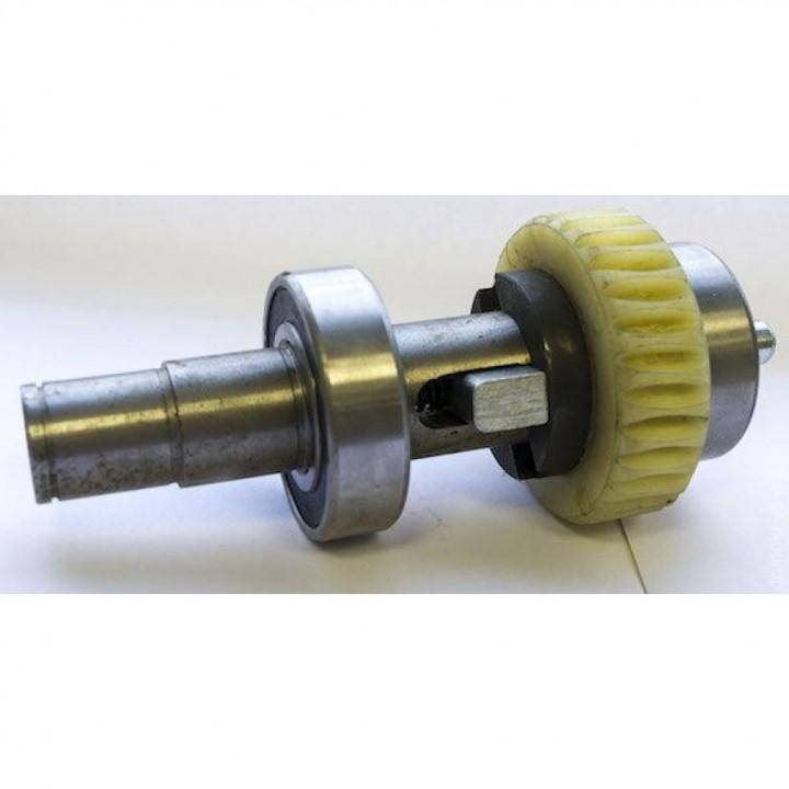 Рабочий вал двигателя с шестеренкой и подшипниками в сборе DHSL111 для приводов DoorHan Sliding 500/800