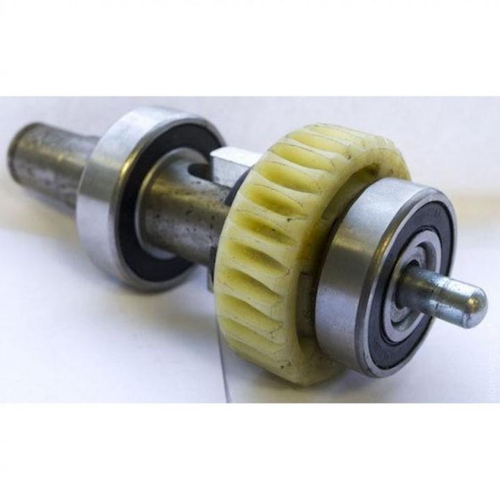 Рабочий вал двигателя с шестеренкой и подшипниками в сборе DHSL011 для приводов DoorHan Sliding 1300