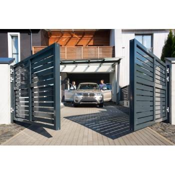 Въездные ворота Alutech Prestige